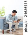 シニア男性 タブレット 24686558
