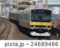 電車 列車 総武線の写真 24689466