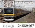 電車 列車 総武線の写真 24689467