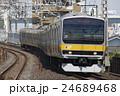 電車 列車 総武線の写真 24689468