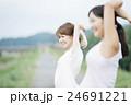 女性 エクササイズ 運動の写真 24691221