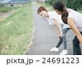女性 運動 ストレッチの写真 24691223