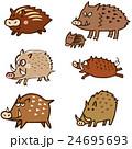 猪 瓜坊 干支のイラスト 24695693