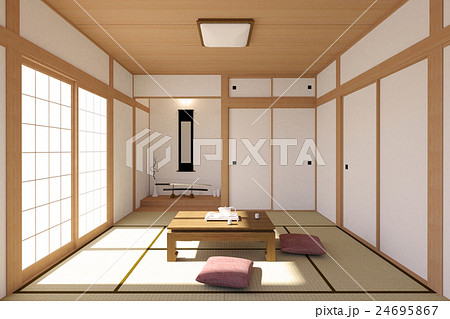 Japanese living room interior in traditional style 24695867