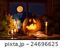 Frightened pumpkin halloween 24696625