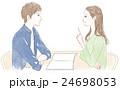 話し合う男性と女性 24698053