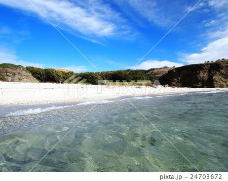 聟島(ケータ島) 南浜の砂浜 24703672