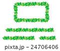 長方形のフレームと飾り罫線(アイビー) 24706406