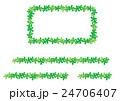長方形のフレームと飾り罫線(シュガーバイン) 24706407