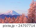 富士山 紅富士 朝焼けの写真 24707714