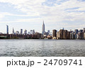 ブルックリンから見たマンハッタン 24709741