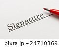 Signature サイン 署名 24710369