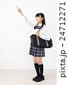 学生 学生服 女の子の写真 24712271