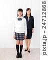 先生 中学生 学生服の写真 24712868