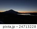 山中湖・月・富士 24713228