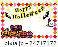ハロウィン かぼちゃ コウモリ 猫 おばけ ポストカード 24717172