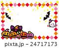 ハロウィン かぼちゃ コウモリ 猫 おばけ ポストカード 24717173