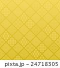 和風 伝統文様入り ひし形を並べた金色背景 24718305