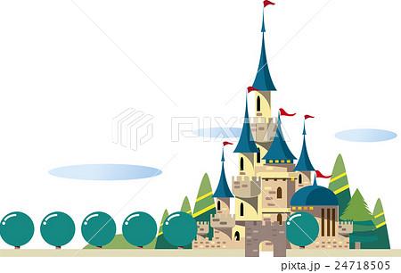 西洋のお城のイラスト素材 24718505 Pixta
