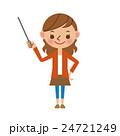 女性 若い ベクターのイラスト 24721249