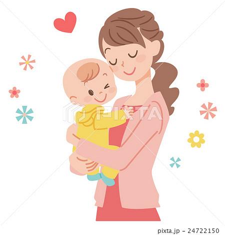 赤ちゃんとママのイラスト素材 24722150 Pixta