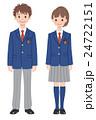 ベクター 制服 高校生のイラスト 24722151