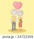 年配 カップル 二人のイラスト 24722309