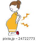 マタニティ 妊娠 女性のイラスト 24722773