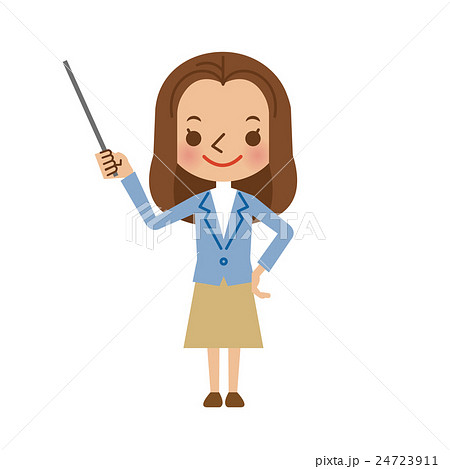 指し棒を使って説明・解説する若い女性 24723911