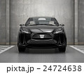 黒色電気自動車SUVの正面イメージ。オリジナルデザイン。 24724638