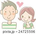 ラブラブなカップル(緑) 24725506