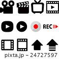 動画撮影のアイコンセット 24727597