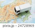 物流・引っ越しイメージ トラックと地図 24728969