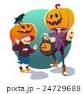 Halloween. Children in costumes for Halloween 24729688