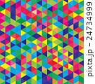 モザイク 三角 カラフル 24734999