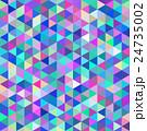モザイク 三角 青 24735002