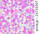 モザイク 三角 ピンク 24735007
