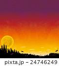 ハロウィンの背景素材 24746249