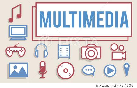 Multimedia Animation Computer Graphics Digital Conceptのイラスト素材 [24757906] - PIXTA