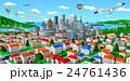 街 町並み 市街のイラスト 24761436