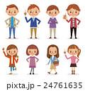 若い男女8人のポーズセット 24761635