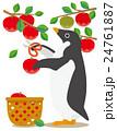 アデリーペンギン ペンギン りんご狩りのイラスト 24761887
