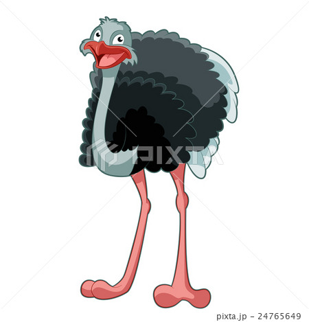 Happy Cartoon Ostrich 24765649