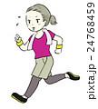 走る ジョギング ランニングのイラスト 24768459