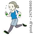 走る ジョギング ランニングのイラスト 24768460