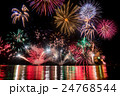 福井県 敦賀 気比 とうろう流しと大花火大会 24768544