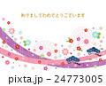 年賀状テンプレート(酉年)テクスチャ 24773005