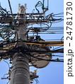 電柱 電信柱 電線の写真 24781730