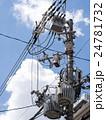 電柱 電信柱 電線の写真 24781732