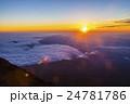 富士山 ご来光 日の出の写真 24781786